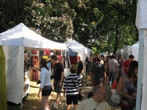 Crowds at the Cabbagetown Festival