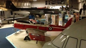 A Chipmunk on display at the RAF Museum